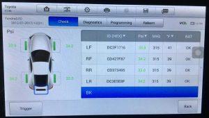 Прописка новых датчиков давления в шинах