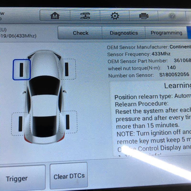 Датчики давления в шинах BMW X5, X6 (36106881890)