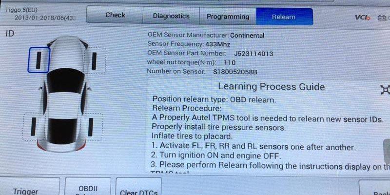 Датчики давления в шинах J523114013